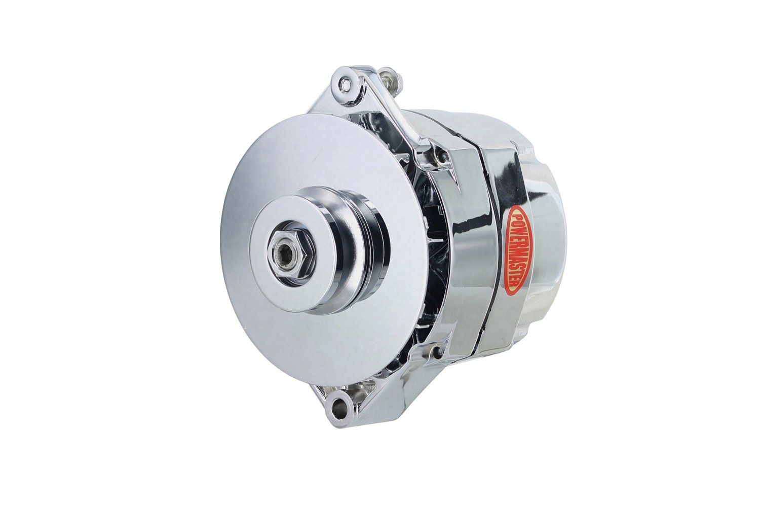 Powermaster Performance 17294-344 Chrome Alternator 12SI 100A 1V Pulley /& Baffle 1 or 3 Wire