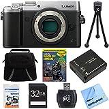 Panasonic DMC-GX8SBODY LUMIX GX8 4K Interchangeable Lens Camera Body Bundle includes Camera, Gadget Bag, Training DVD, 32GB SD Card, Battery, Microfiber Cloth, Card Reader, Tripod & Screen Protectors
