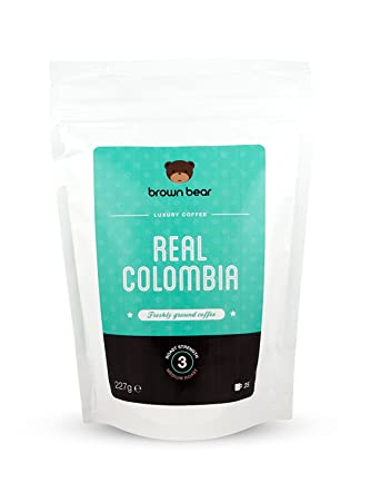 Brown Bear Real Colombia Café Molido Tostado Medio 227 g