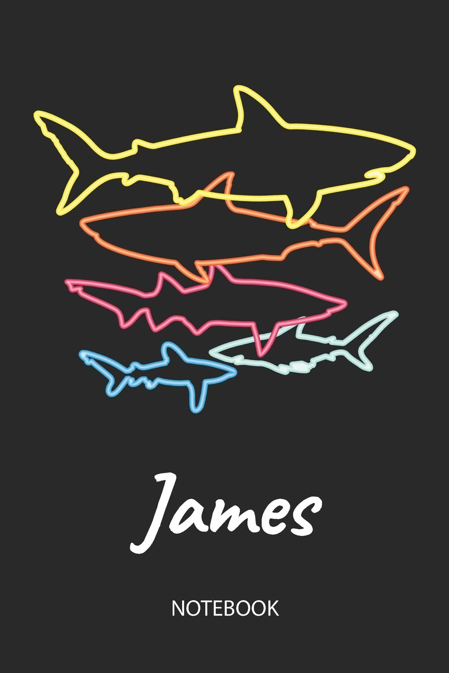 James - Notebook: Blank Lined Personalized & Customized Name