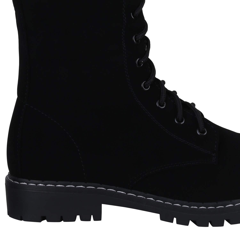 Schuhe Worker VITA Damen Stiefel Worker Schuhe Stiefel Leicht Gefüttert Schwarz Hoch Leicht Gefüttert 0b48ab