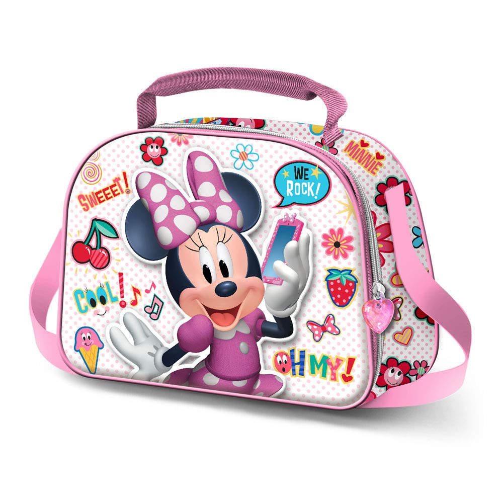 Karactermania Minnie Mouse OhMy!-3D Lunch Bag Cartella 26 centimeters Multicolore Multicolour
