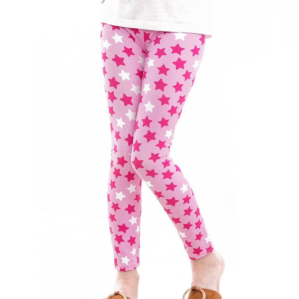 testGirls Leggings Toddler Girls Pants Great Stretch Kids Printing Flower Pants Suitable for 120CM Child (Floral Print 4)