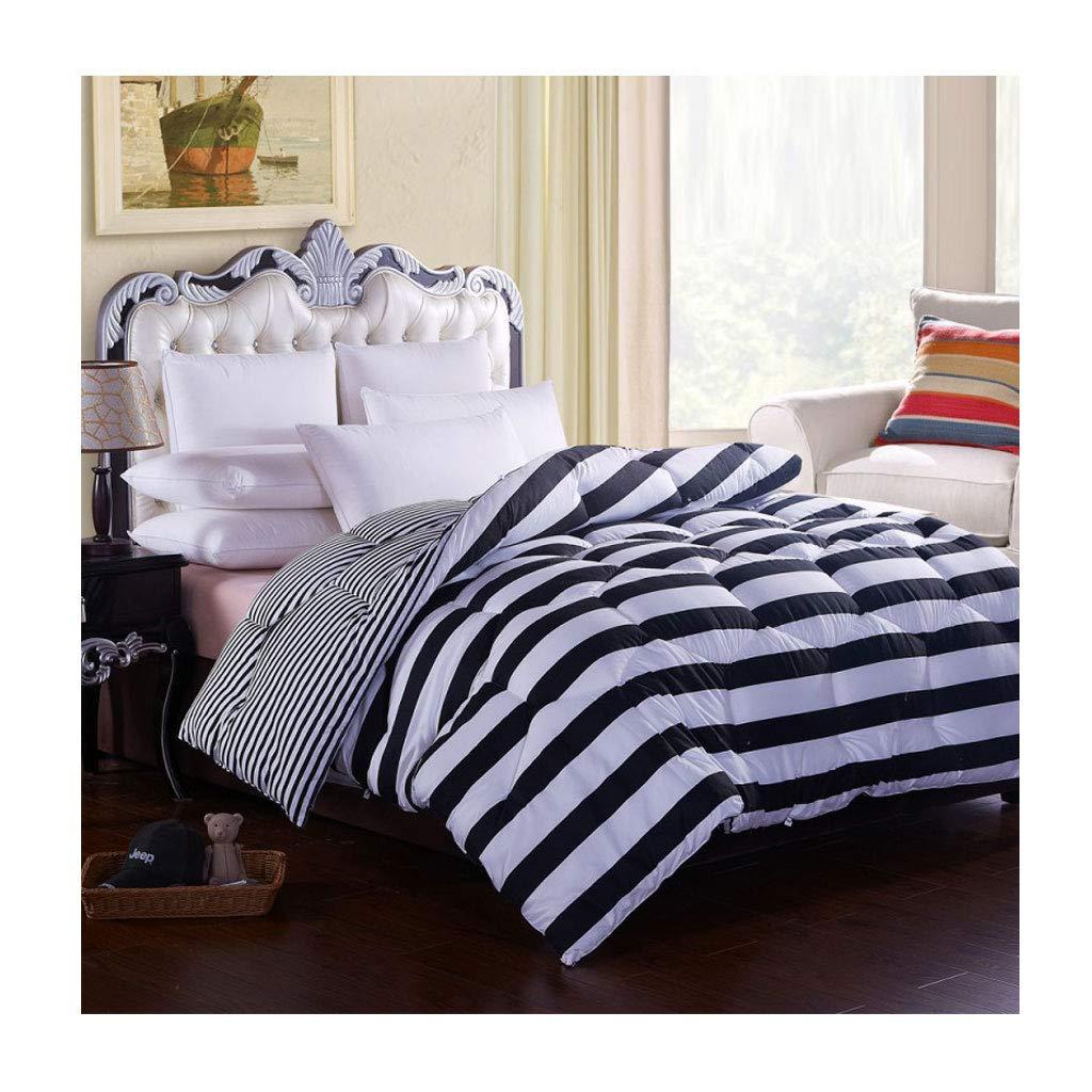 秋と冬は暖かい個人用ダブルソフトキルトコアベッドルームホステルベッドライニングを厚く保つ (色 : Stripe, サイズ さいず : 220×240cm(3.5kg)) B07MHYXDPH Stripe 220×240cm(3.5kg)