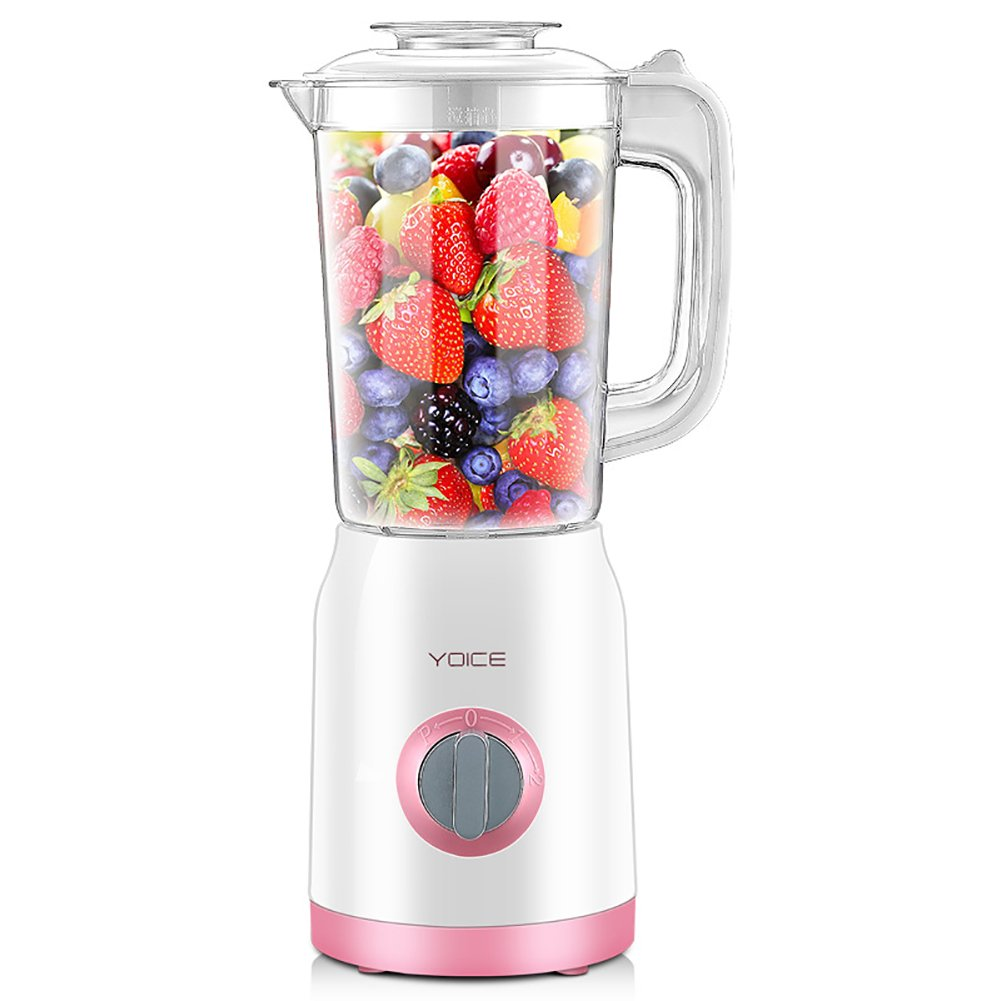 250w White Multifunction Heating Blender 1.0 Liter, with Three Cups and Two Blades-Pink SL&VE