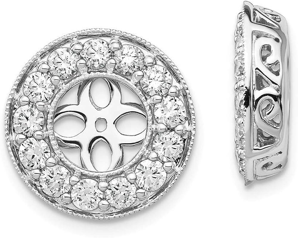 14kt White Gold True Origin Lab Grown 1.3ct Diamond Earring Jackets, VS/SI, D E F