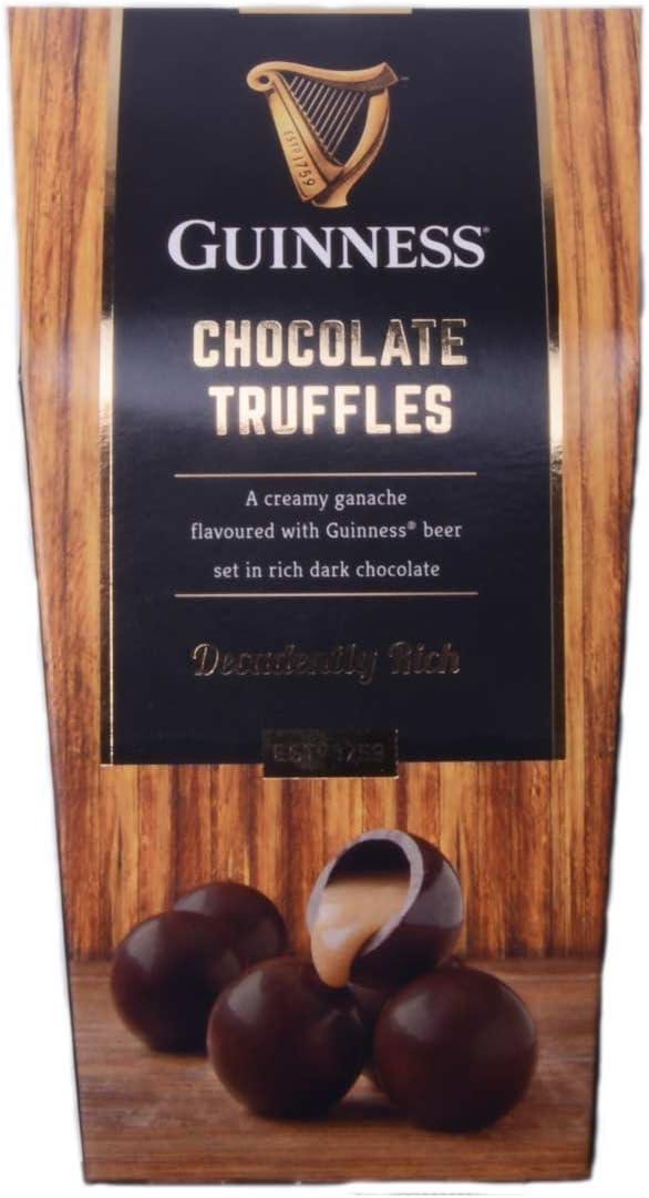 Trufas de chocolate negro de lujo Guinness con centro con sabor a Guinness 135g