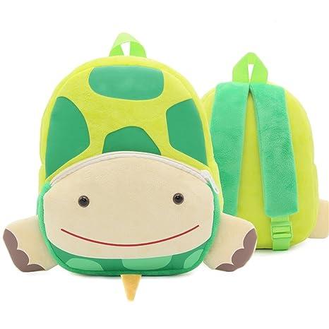 XLHMILY Mini dibujos animados 3D Mochila Infantiles Niños mochila animal tortuga unicornio mochila algodón de jardín