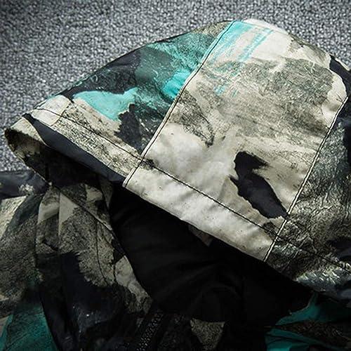DAYLIN Hombres Patchwork Impreso Manga Larga Abrigos con Capucha Otoño Invierno Talla Grande Chaqueta Tops: Amazon.es: Zapatos y complementos