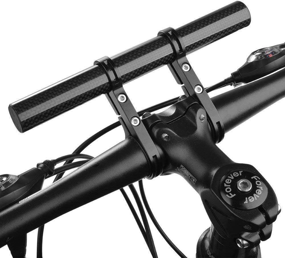 Carbon Fiber Bike Bicycle HandleBar Extender Mount Extension Lamp Bracket Holder