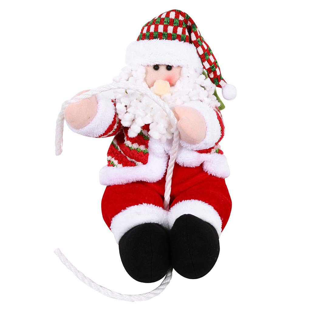 Santa Claus Decoration, Gunel Christmas Climbing Rope Doll Decoration Pendant Xmas Tree Indoor/Outdoor Hanging Ornament Decor (XL) by Gunel home