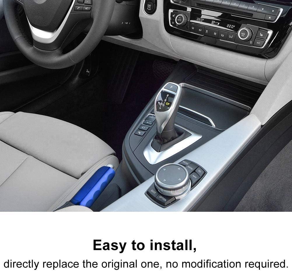 Argento Gorgeri Manicotto del freno a mano della protezione della maniglia della copertura del freno a mano in lega di alluminio per auto universale