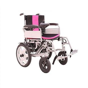 Cww Moto De Silla De Ruedas Inteligente Eléctrica Ancianos Minusválidos Silla Eléctrica Plegable Luz: Amazon.es: Deportes y aire libre