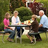 Lifetime 22123 Folding Picnic Table, 6 Feet, Hunter