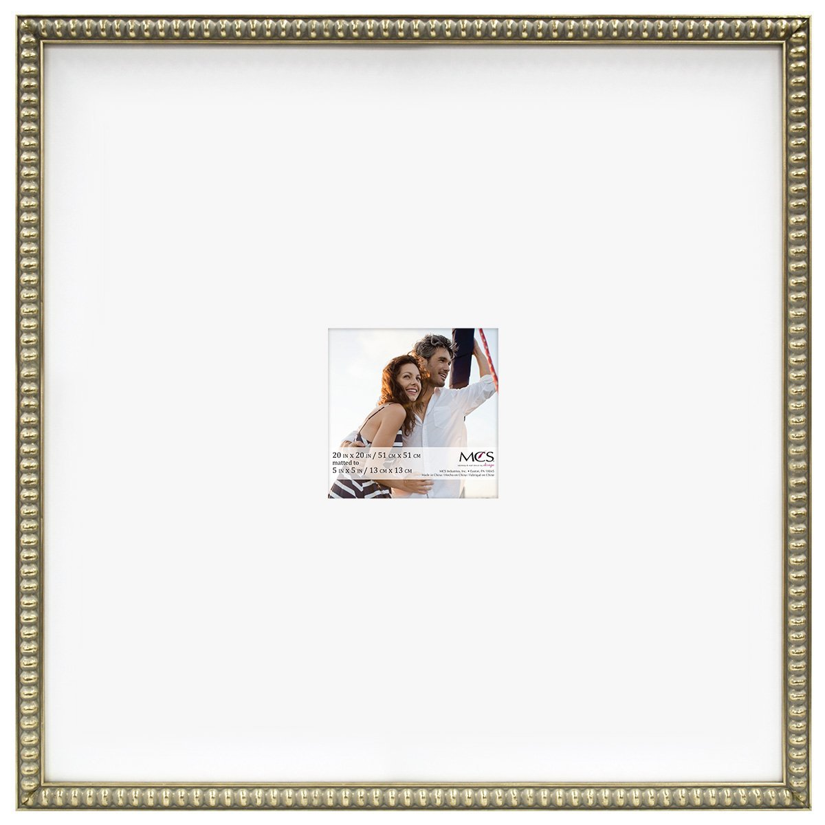 Amazon mcs 20x20 inch signature bead frame with 5x5 inch mat amazon mcs 20x20 inch signature bead frame with 5x5 inch mat opening champagne 47609 home kitchen jeuxipadfo Image collections