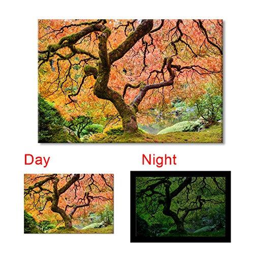 Maple Tree 24'x36' Waterproof Canvas Glow in the Dark Wall Art Print