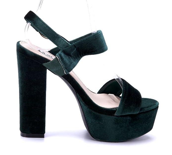 28347b22b95f Aus Deutschland Online Billig Verkauf Bestseller Damen Schuhe  Plateausandaletten Sandalen Sandaletten Grün Blockabsatz 13 cm High