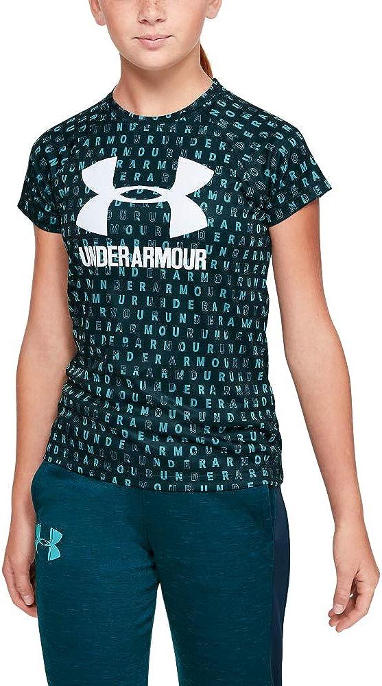 Under Armour Girls Big Logo Novelty Shorts Sleeve T-Shirt