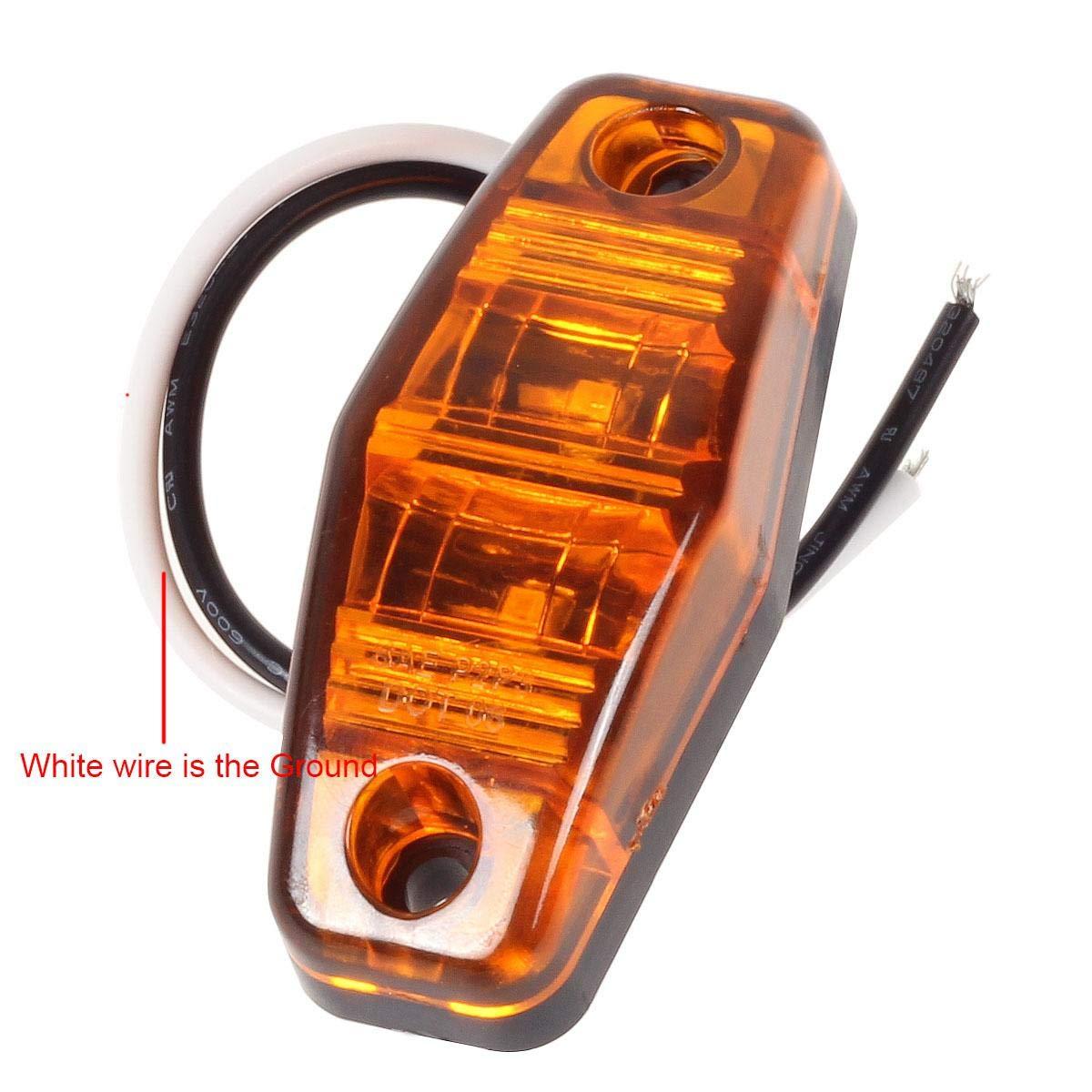 Flange Mount Led Marker Light Kit Sealed 12V Partsam 6 Stop Turn Brake Tail Light