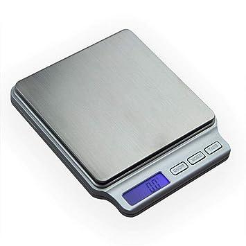 TYUCN Básculas de precisión Digital para joyería Dorada Báscula electrónica de Bolsillo de 0, 1 Libras Joyería para Cocina Postal Báscula Digital de Peso ...