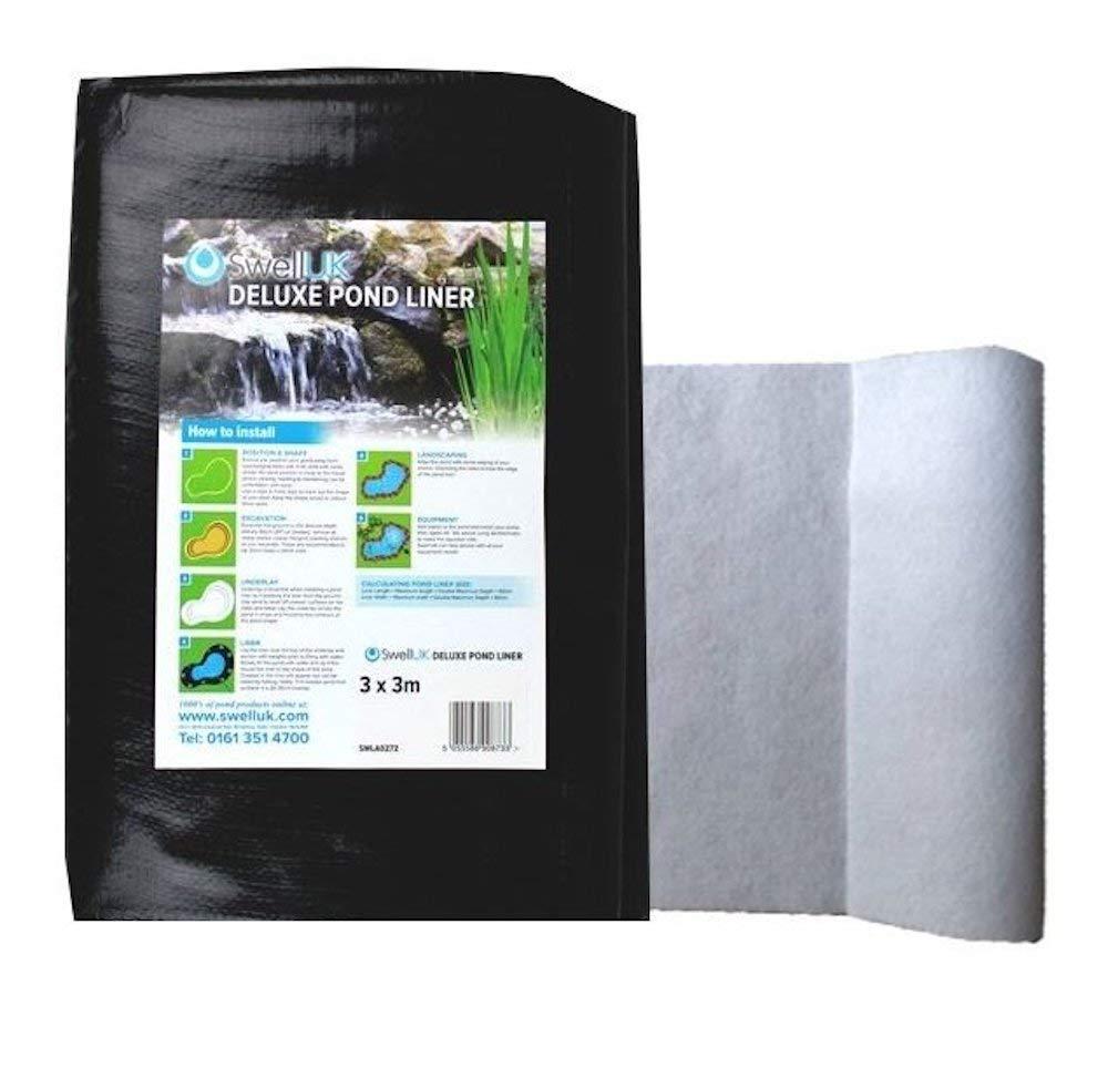 Swell UK 2.5x2.5m 25 Year Guarantee Pond Liner /& HD Underlay