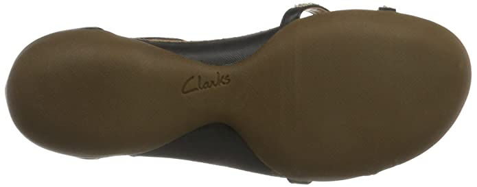 288714bf2b56 Clarks Womens Casual Clarks Raffi Star Leather Sandals In Black Wide Fit  Size 6.5  Amazon.co.uk  Shoes   Bags