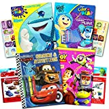 Disney Pixar Ultimate Coloring Book Assortment ~ 4 Books Featuring Disney Cars - Toy Story - Finding Nemo and More (Includes Stickers)