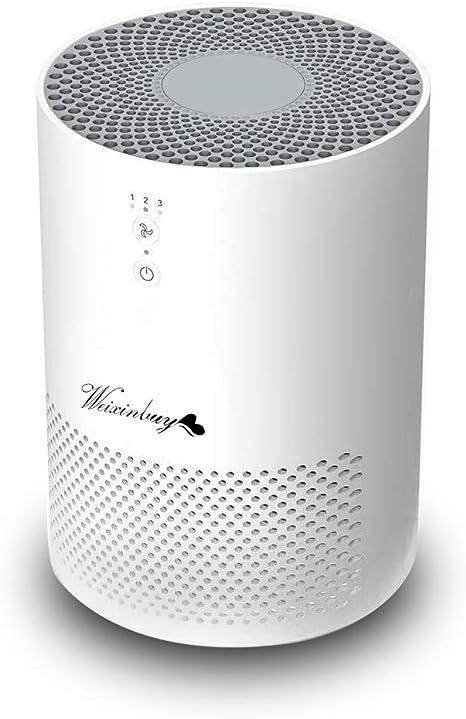 Weixinbuy Purificador de Aire, purificador de Aire de 360 ° con Filtro HEPA y carbón Activado, Efectos de filtración ...