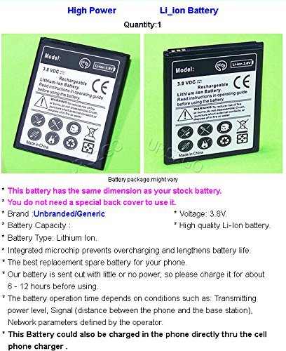 New 2x 1800mAh Excellent Rechargeable Battery For Cricket ZTE Prelude 2 Z669 Universal USB/AC Charger USB Data Sync Charging Cable Phone Accessory