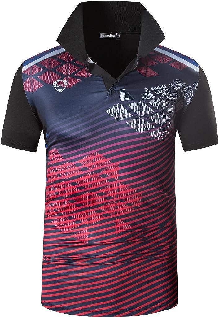 jeansian Men's Outdoor Sport Quick Dry Fit Polo T-Shirts Tee Shirt Tshirt Tops Golf Tennis Bowling LA287