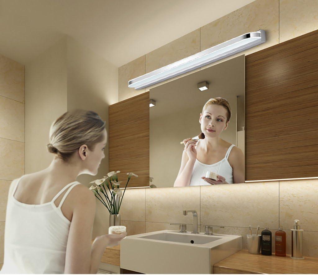 Beleuchtung LED-Spiegel-vordere Lichter, wasserdichte Anti-fog Badezimmer-Spiegel-Lampen-Wand-Lampe europäische einfache moderne Spiegel-Kabinett-Lichter führte Lichter ( Farbe : Weiß-60cm LED 10w ) Weiß-70cm Led 14w