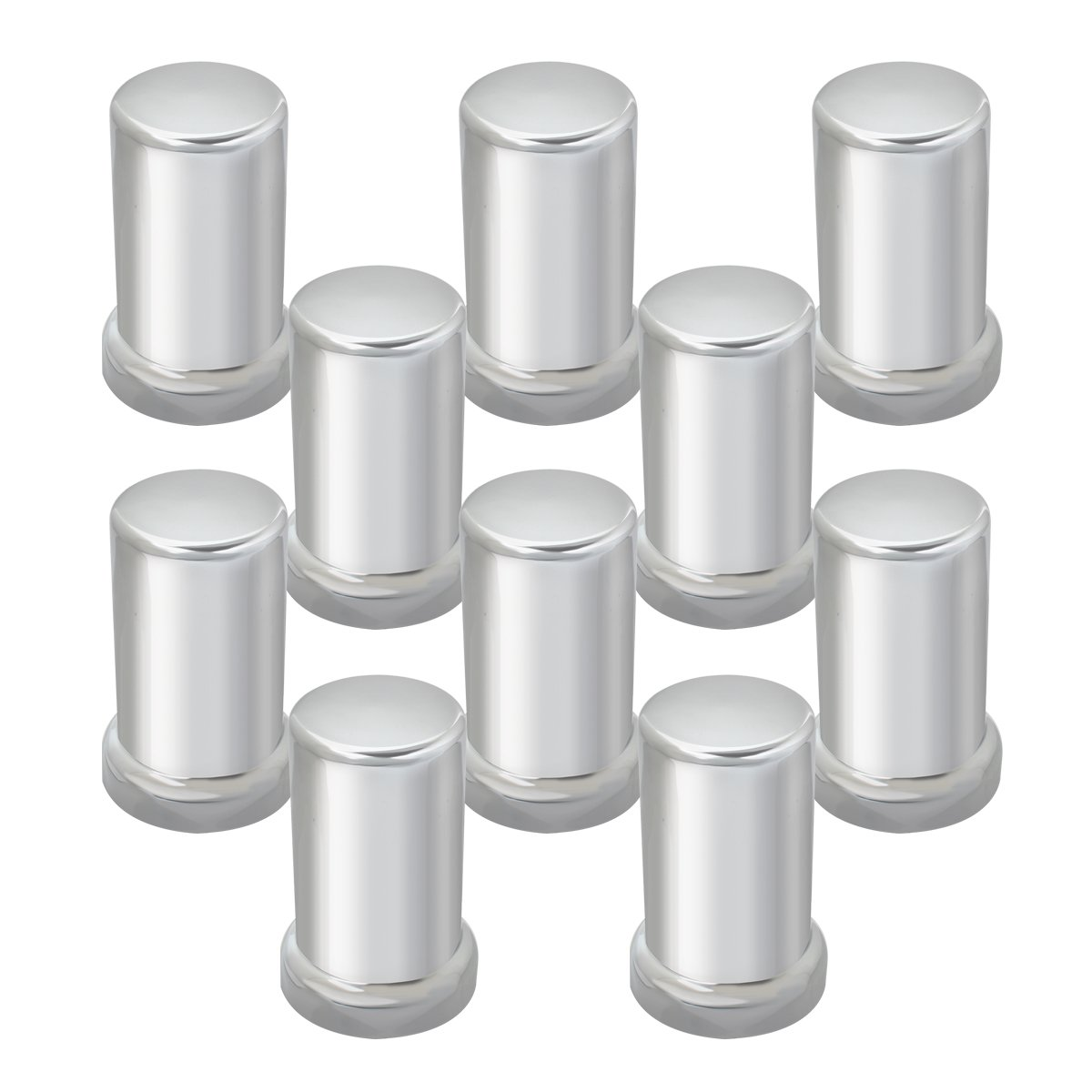 Grand General 10261SP Chrome 33mm x 3-3/8'' Plastic Tube Screw-In Nut Cover with Flange