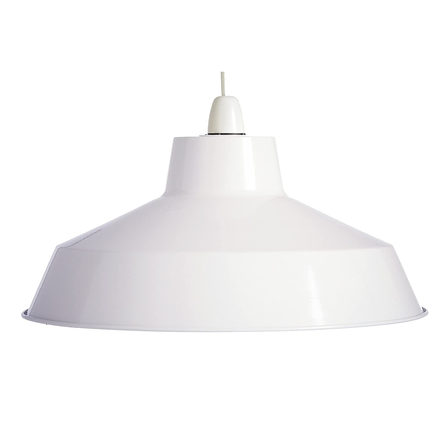Large modern retro dual fitting glossy metal ceiling light fitting large modern retro dual fitting glossy metal ceiling light fitting pendant shade white amazon kitchen home aloadofball Image collections