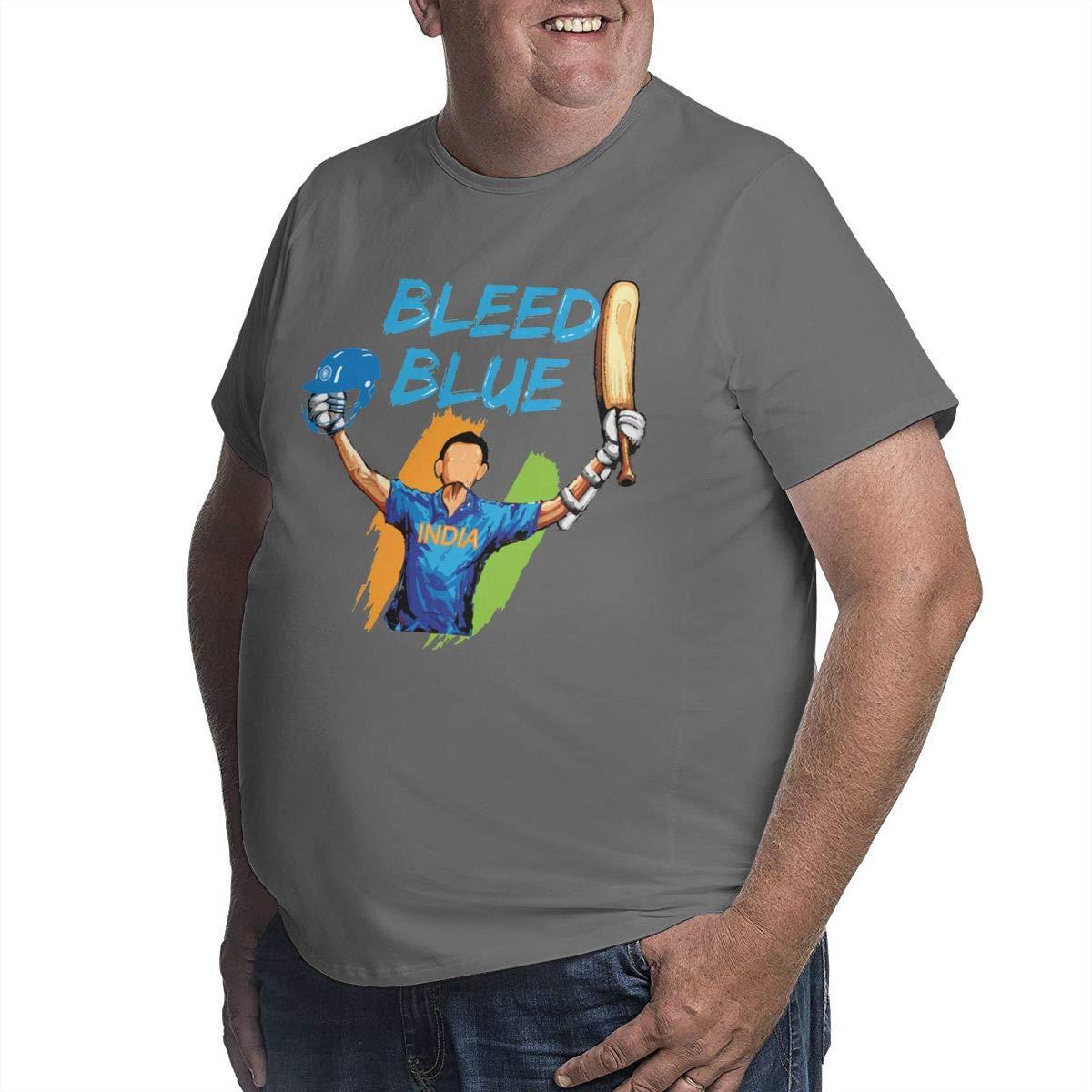 Indian Cricket Team Supporters Mens Short Sleeve T-Shirt Big /& Tall Heavyweight T-Shirt
