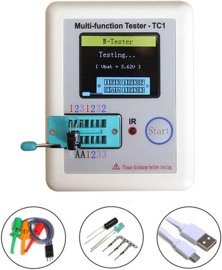 Testeur de transistor multifonction de poche r/étro-/éclairage transistor testeur diode Thyristor Capacitance Lcr-tc1/avec /écran TFT de 8,9/cm