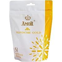 AMOR Goud, pak van 50 goudkleurige premium condooms, gevoelsecht en extra vochtig