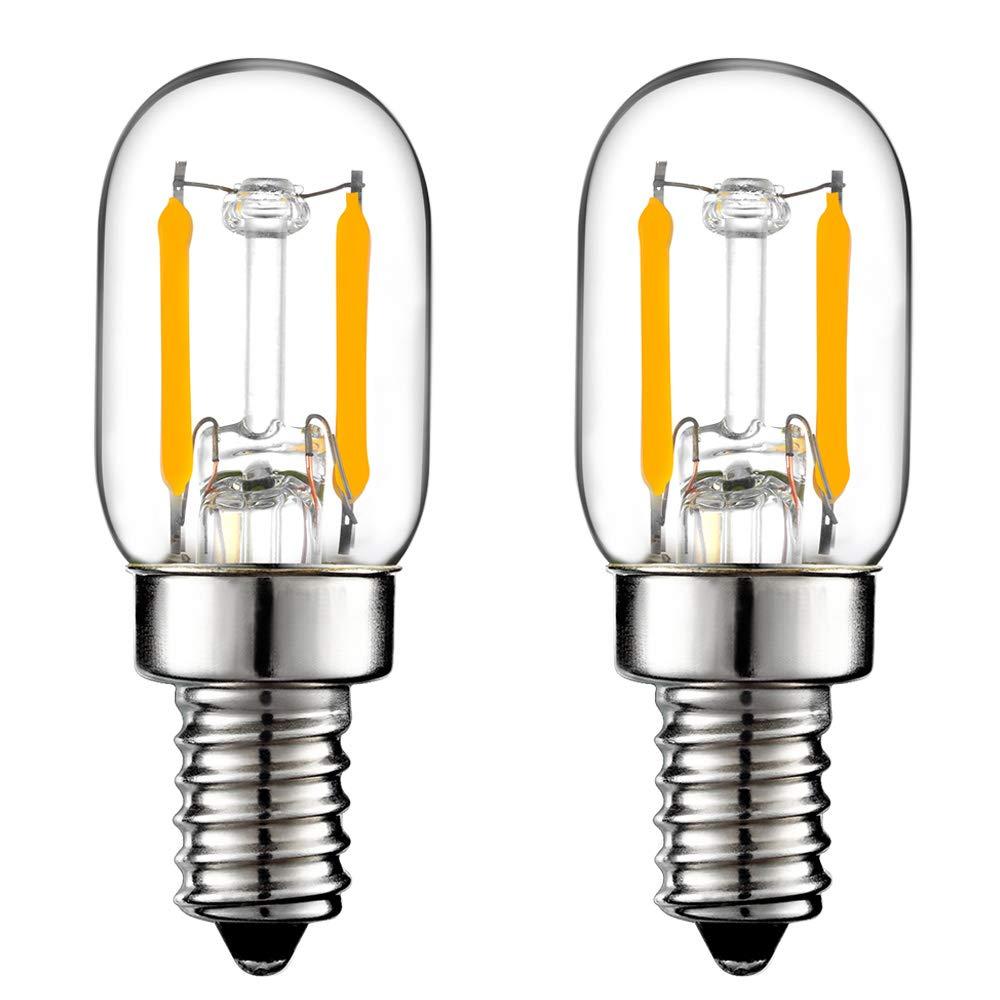LiteHistory E12 15w Night Light Bulbs 150lm Himalayan Salt lamp Bulb 2700K t22 t7 led Bulb 2Pack