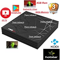 T95 Max Android 8.1 6K Ultra HD Allwinner H6 4GB/64GB Android TV Box- Jio tv,Hotstar,Prime video-x96 max,x96 Mini,mecool,alfawise,tx3 Mini