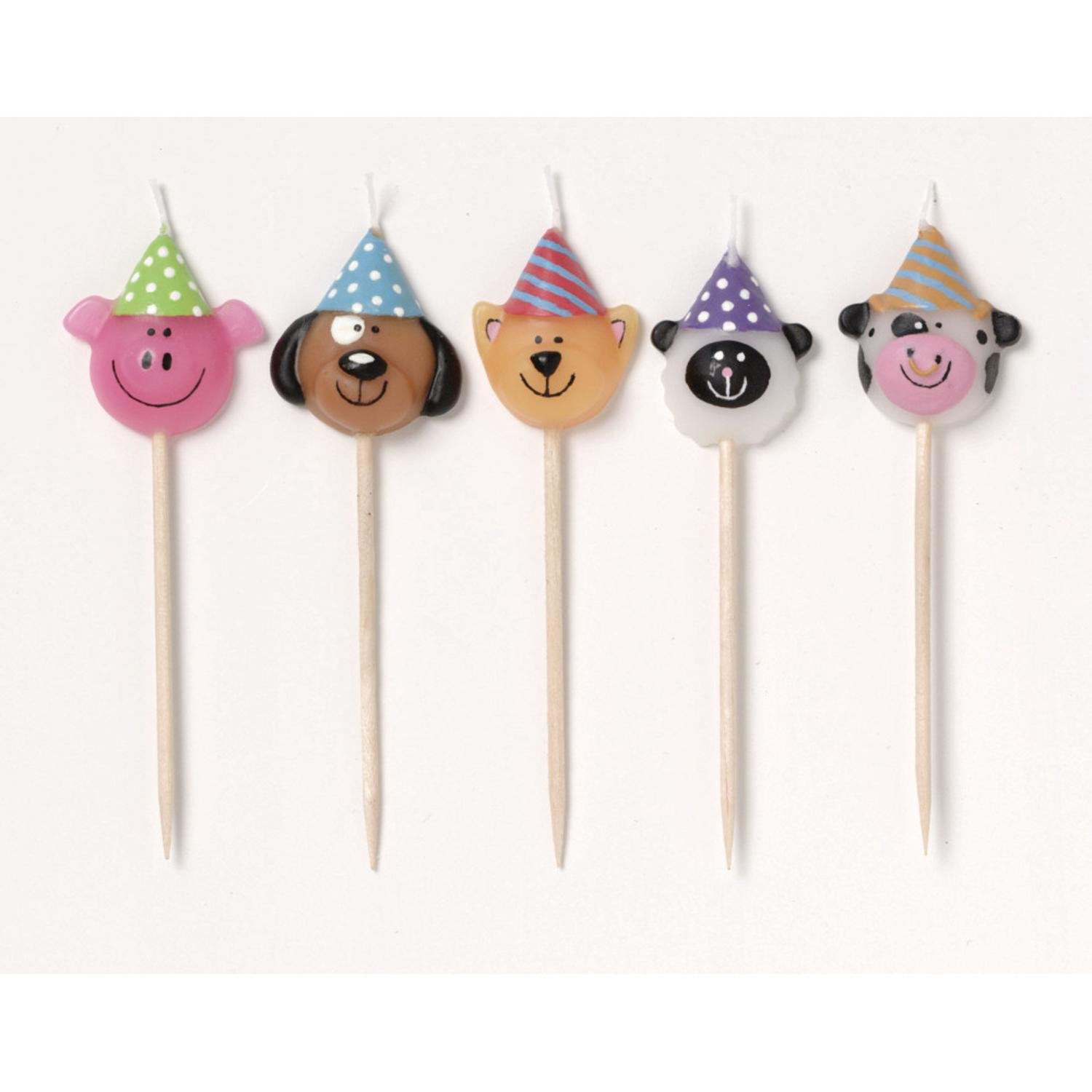 Club Pack of 60 Animal Farmhouse Fun Birthday Party Pick Candles 2''