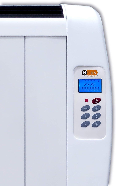 Mando a Distancia Temporizador Incluye patas y soporte para pared. Haverland EC 4 Calentamiento R/ápido Bajo Consumo Hasta 8m2 3 Modos Emisor T/érmico de 4 Elementos de Aluminio 600W