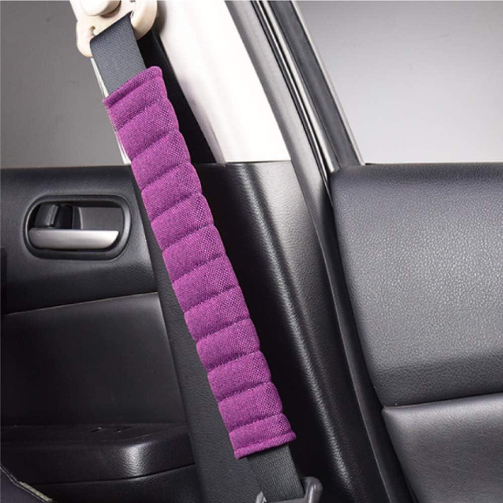 Fochutech Seatbelt Cover Shoulder Strap 2 Packs Linen Car Seat Shoulder Pads Seatbelt Pillow Red+Black A Must Have for a More Comfortable Driving Breathable /& Skincare Seatbelt Cushion