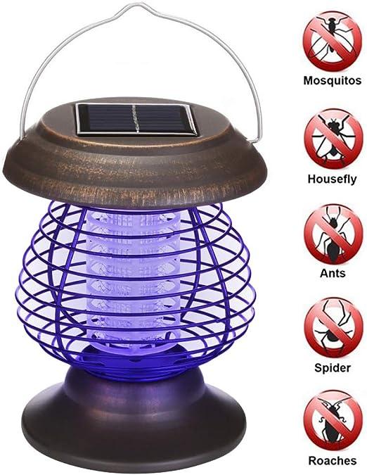 Sukisuki - Mosquitera de jardín con luz LED, Resistente al Agua, para jardín, energía Solar, Repelente de Mosquitos, lámpara para Matar Insectos: Amazon.es: Jardín