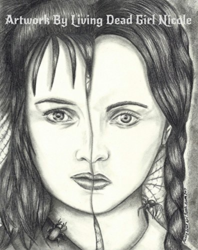 ORIGINAL Portrait Drawing: ''Kindred Spirits'' Lydia Deetz Wednesday Addams Beetlejuice Addams Family by Artwork By Living Dead Girl Nicole