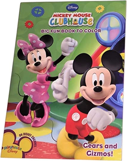 - Amazon.com: Dalmatian Press Disney Mickey Mouse Clubhouse Big Fun Book To  Color ~ Gears And Gizmos! (96 Pages; Coloring And Activity Book): Toys &  Games
