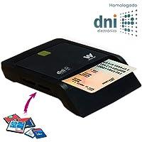 Woxter Lector Dni Combo - Lector DNI electrónico, Compatible con Las Tarjetas Smart Cards o Tarjetas Inteligentes, con 3…