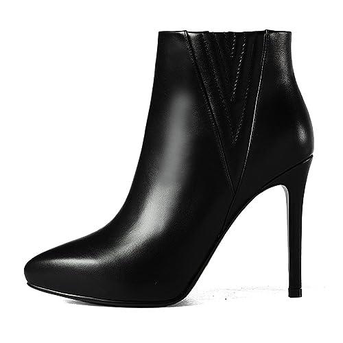 nude botas punta de moda/Bellas señoras de cuero europeo plataforma tacón Botines/ botas de mujer primavera/ botas de moda de la mujer: Amazon.es: Zapatos y ...