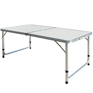 5456cea016 Superworth 4FT 1.2M Folding Camping Table Aluminum Lightweight Extra  Strength Portable Indoor Outdoor Garden Party Holiday Picnic BBQ With Carry  ...