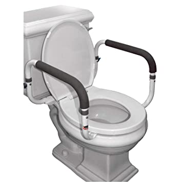 Enjoyable Carex Toilet Safety Frame Toilet Safety Rails With Adjustable Width Toilet Rails For Elderly Handicap Home Health Care Equipment After Surgery Bralicious Painted Fabric Chair Ideas Braliciousco