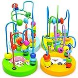 PIXNOR 1 Pieza Rompecabezas Laberinto del Grano Puzzles de Madera Juguete Educativo para Bebé (Estilo aleatorio)