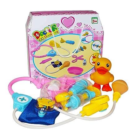 Doctora Juguetes - Alian Juguetes portátiles para niños Pato Toy Doctor Toolbox Simulado Doctor Toy,